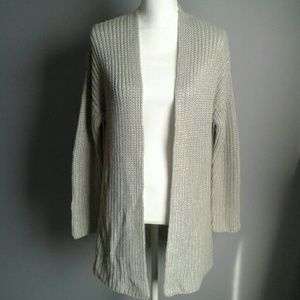 Lucky Brand Silver Open Front Cardigan